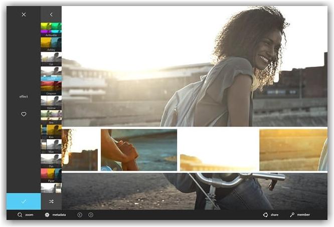главная страница приложения Autodesk Pixlr