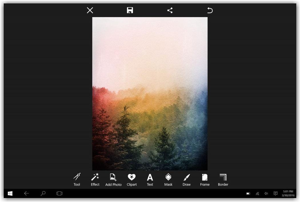 отредактированная фотография в программе PicsArt