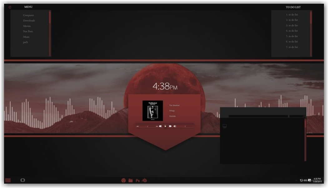 тема Rose On The Moon W10 для Windows 10