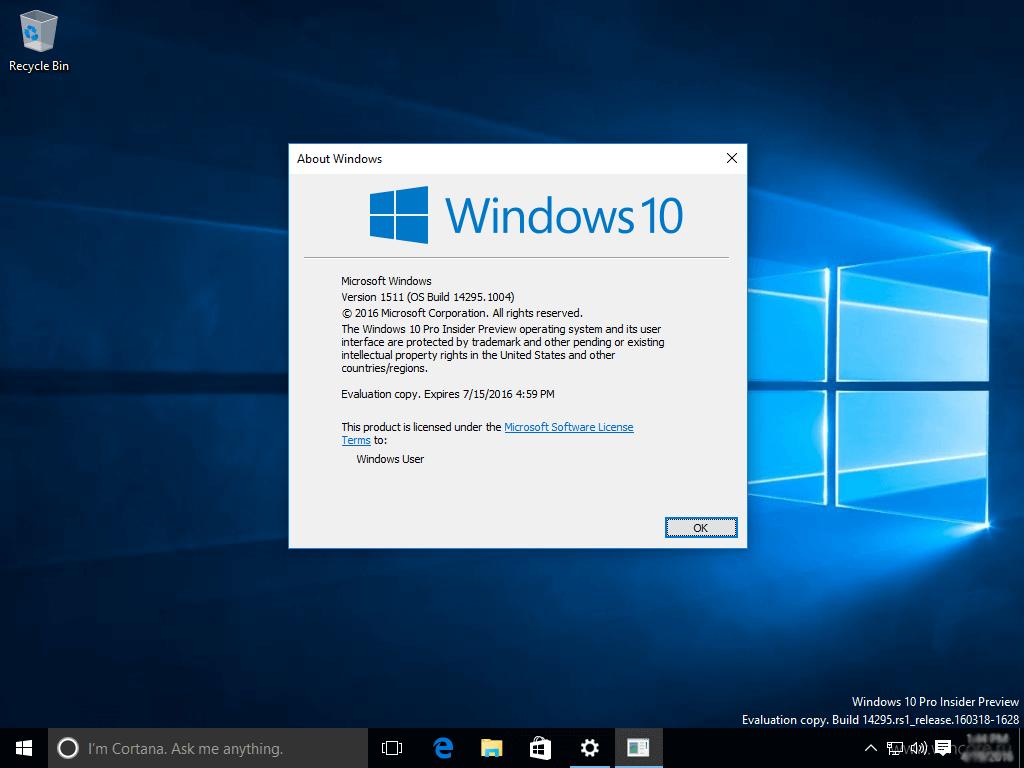 Обновление Windows 10 KB3154879