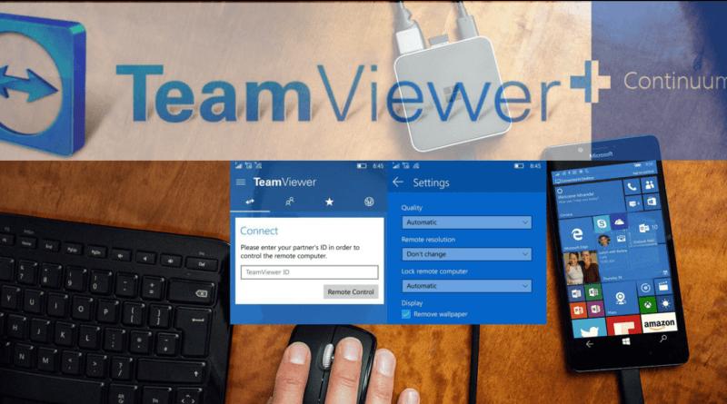 TeamViewer и Continuum
