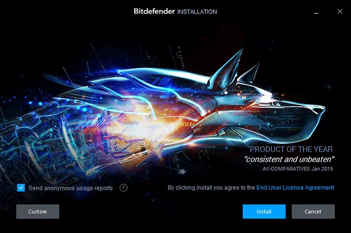 Установка программы Bitdefender 2016