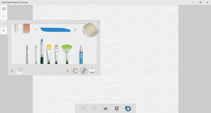 меню редактора в приложении Fresh Paint