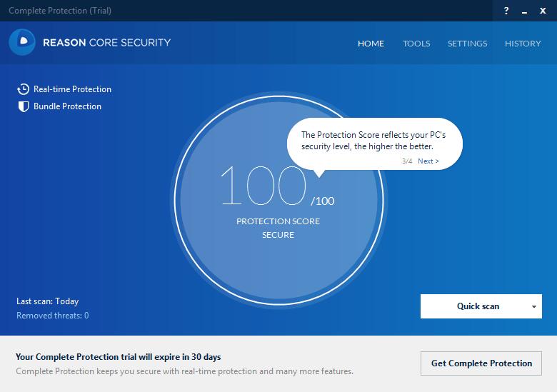 Интерфейс программы Reason Core
