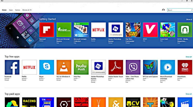 Приложения Windows 10 Store