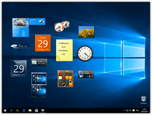 Восстановить гаджеты в Windows 10