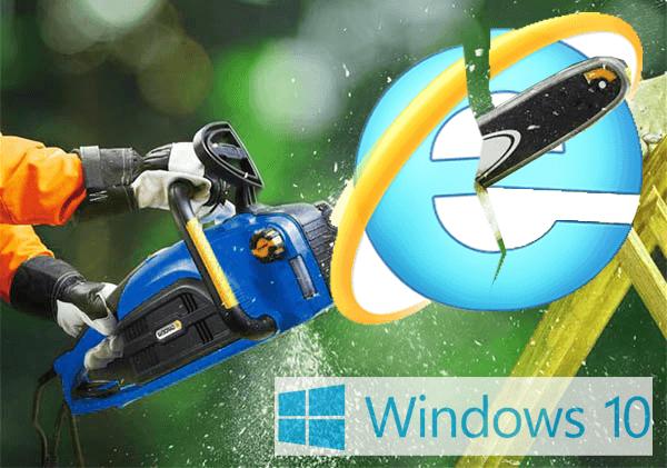 Как удалить Internet Explorer 11 в Windows 10 ?