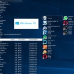 Расположение папок на рабочем столе Windows 10