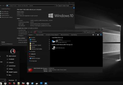 тема «Windows 10 Black Edition»