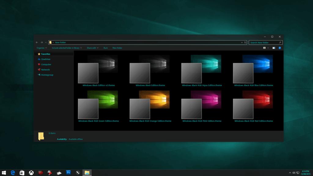 тема Black Edition для Windows 10
