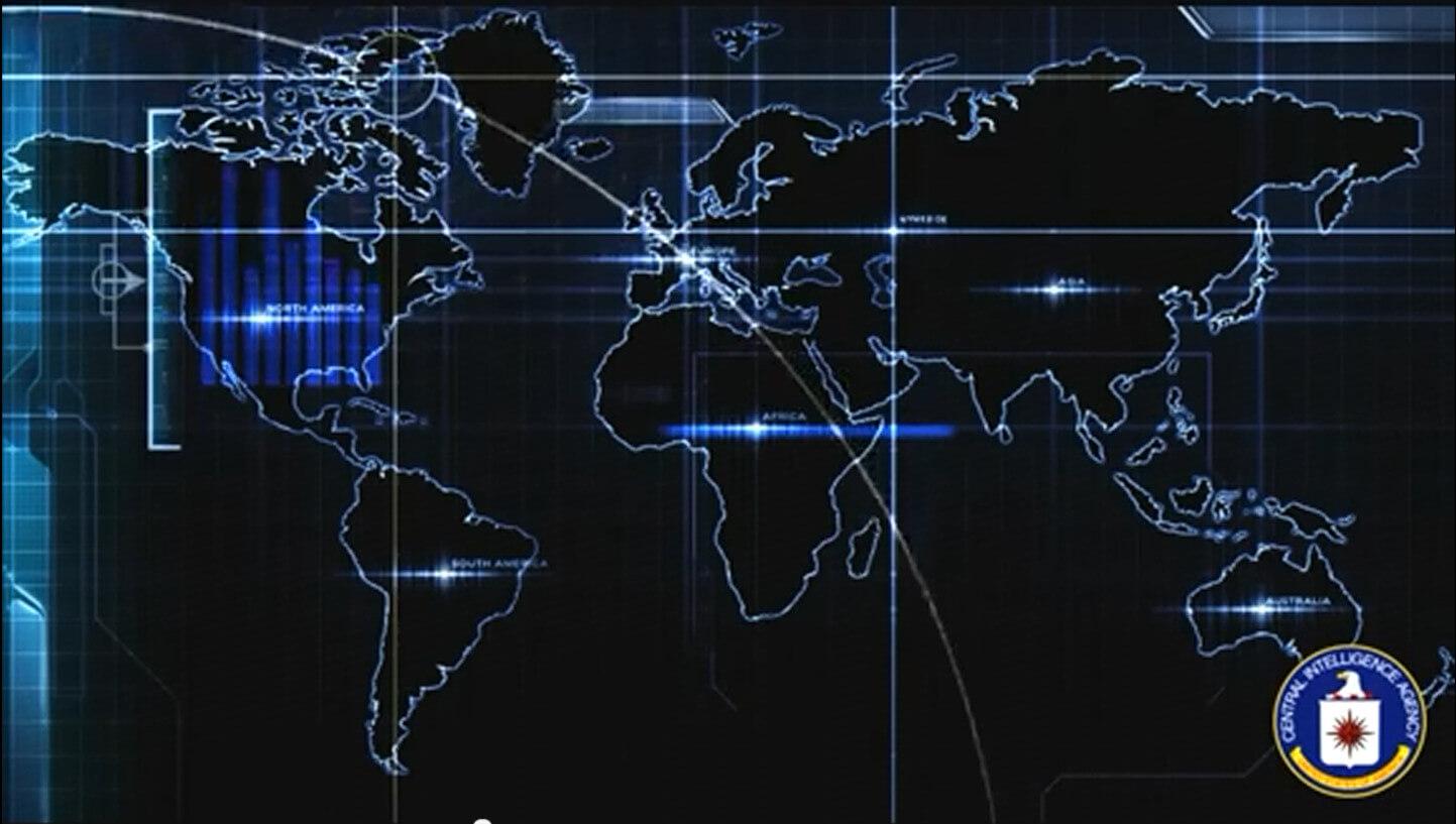 видео-обои «Карта ЦРУ»