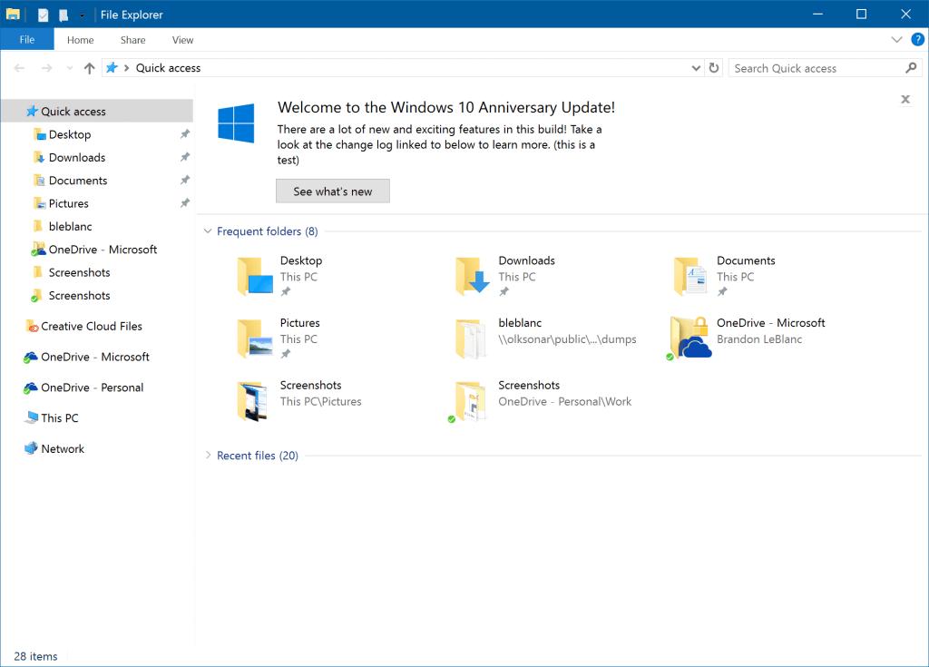новые функций проводника в Windows 10