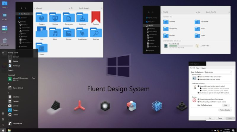 тема «Fluent Design VS»
