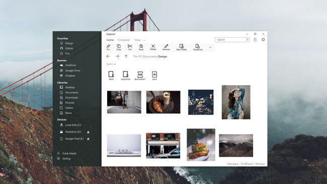 В Windows 10 появится новый Рабочий стол (UWP)