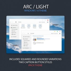 ARC Light – оригинальная тема для Fall Creators Update