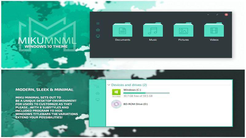 MikuMNML — чистая простая минималистская тема