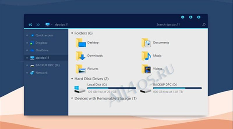 Simplify 10 Dark Blue – симпатичная тема для Windows 10