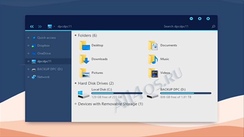 Simplify 10 Dark Blue – симпатичная тема для Windows 10