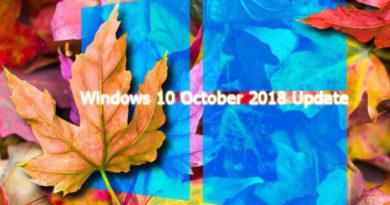Подробное описание обновления Windows 10 October 2018 Update (версия 1809)