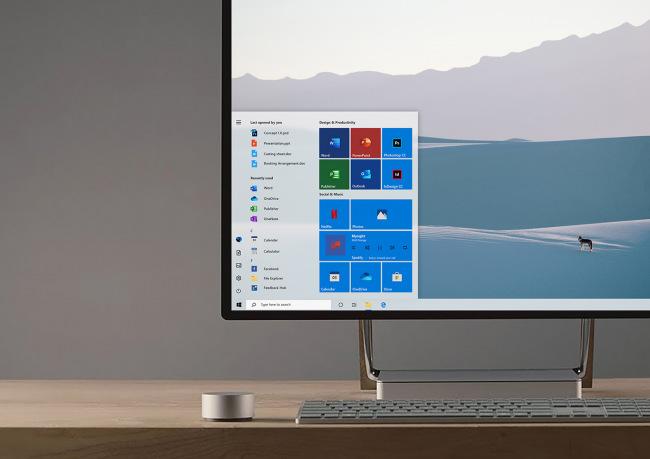 Представление обновленного меню «Пуск» Windows 10