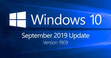 Обновление Windows 10 версии 1909