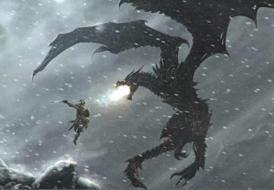 видео-обои «DRAGON FIGHT-ELDER SCROLLS»